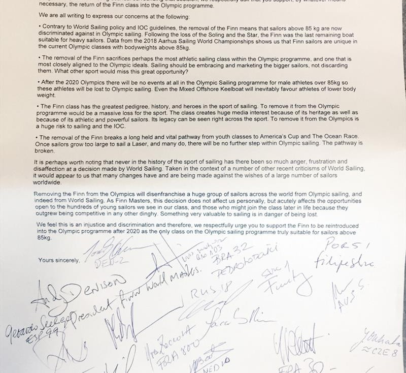 Open Letter Front Page