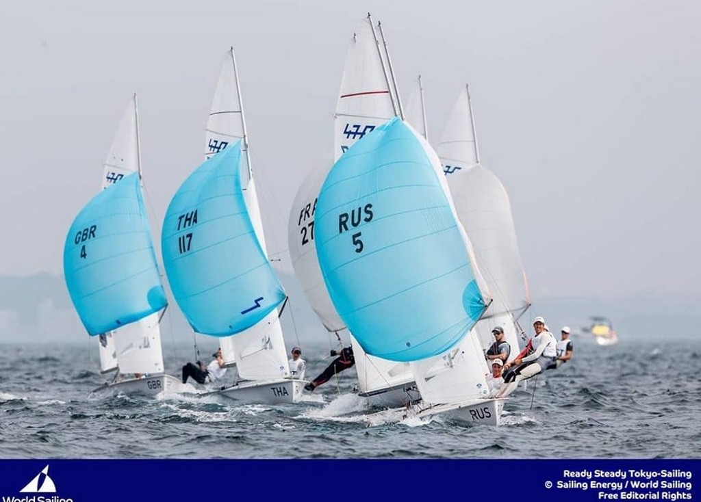 There was enough wind for one race