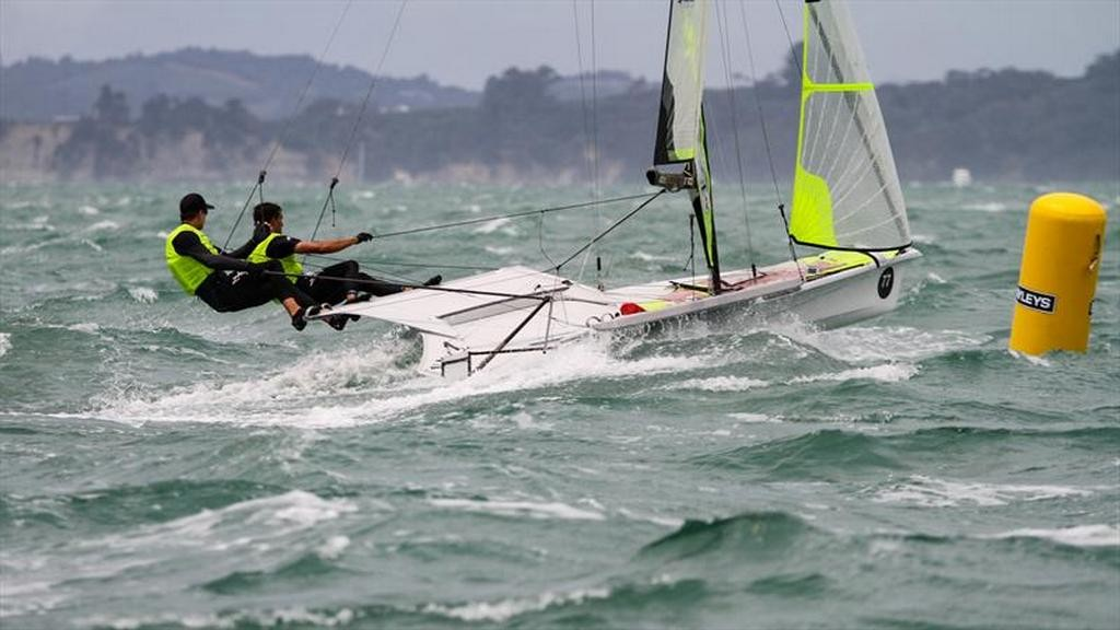 One of the moments of the medal race.