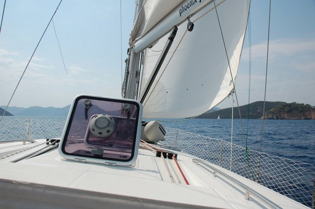 Tank view of sailing yacht Oceanis 50