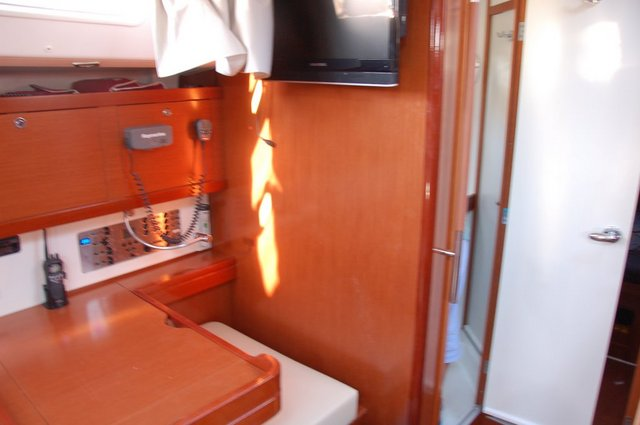 The navigator on the Oceanis 50 is ordinary, small and rather big