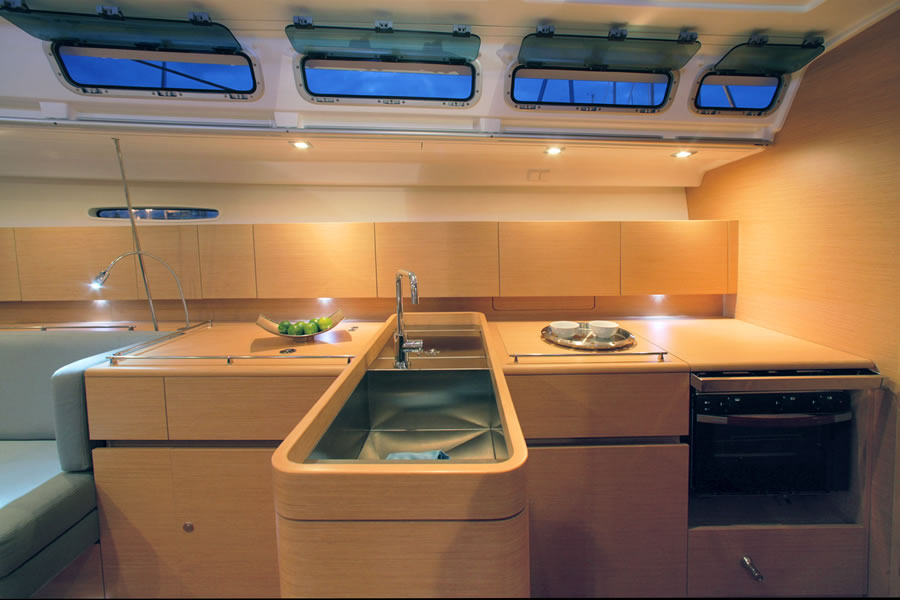 First 50 well equipped galley