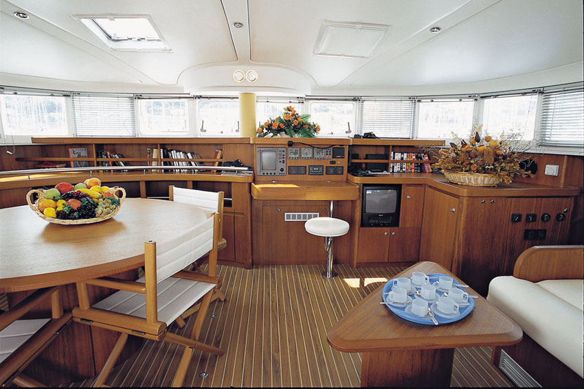 The interior of the Lagoon 570 is simply immense