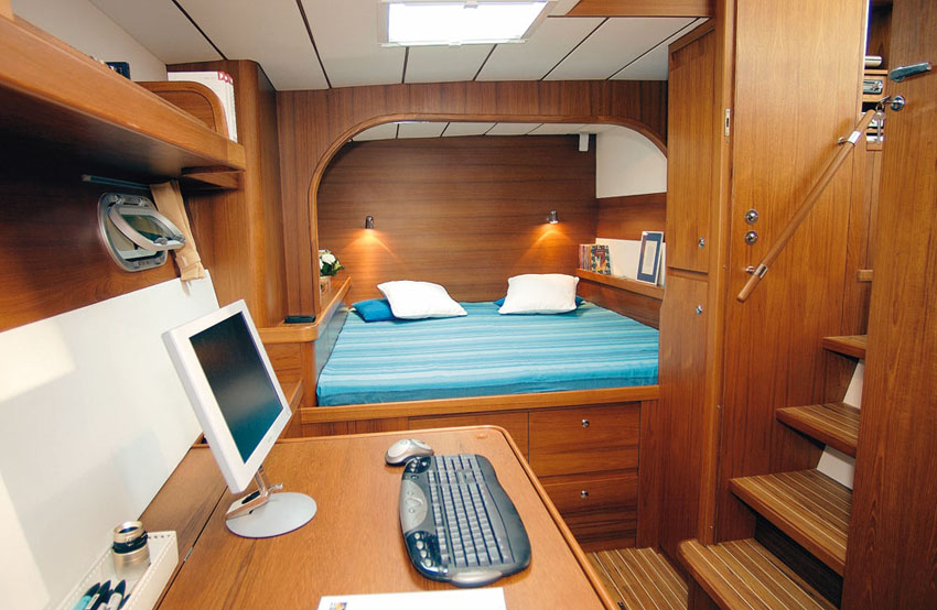 One of the aft cabins of the Lagoon 570 catamaran